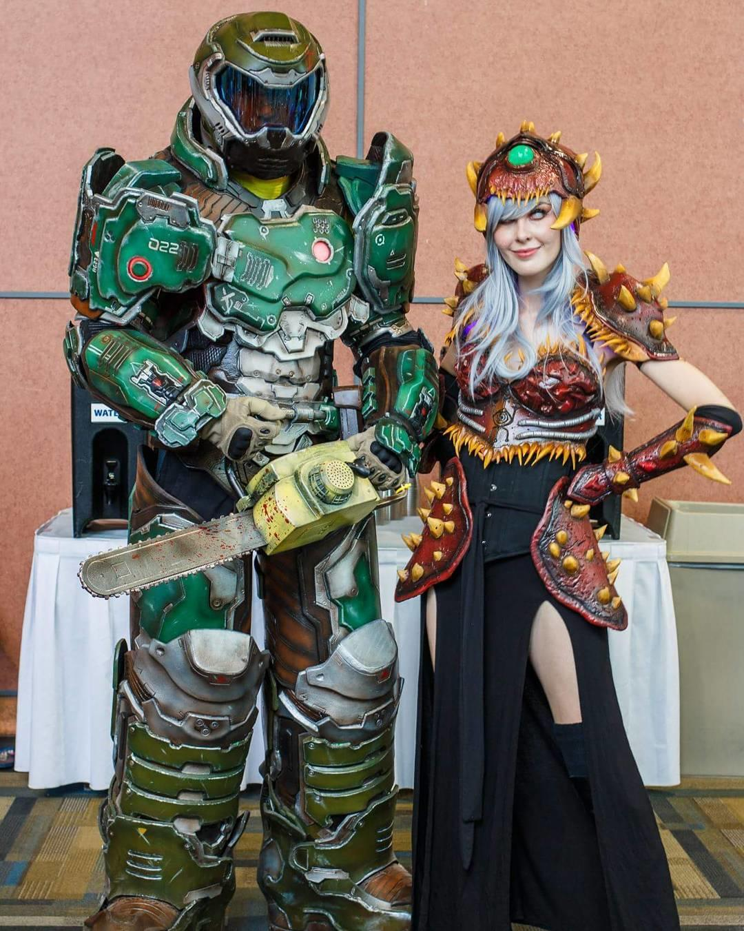 Doom Slayer And Cacodemon Cosplay Know Your Meme