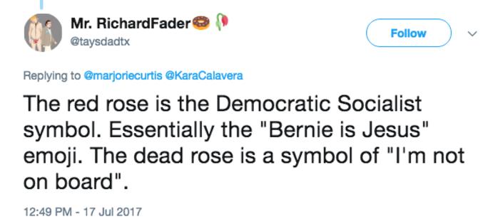 Wilted Flower Emoji | Liberal Twitter Emoji War | Know Your Meme