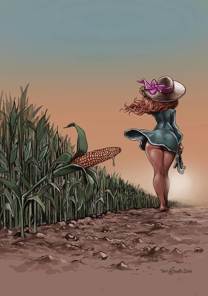 Would Nude women in corn field antimated