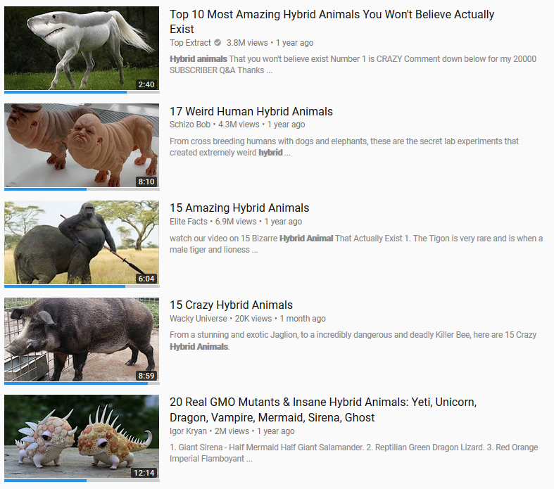 Image of: Wildlife Clickbait Hybrid Animal Clickbaits On Youtube Know Your Meme Hybrid Animal Clickbaits On Youtube Clickbait Know Your Meme