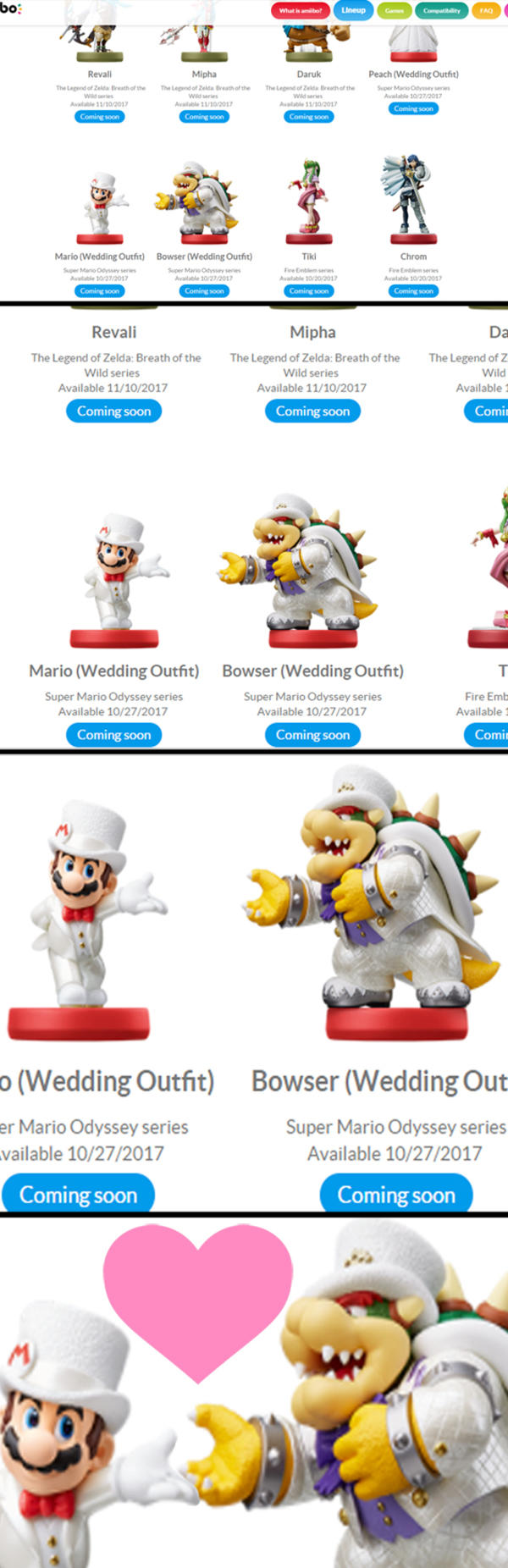 Mario Bowser Amiibo Wedding Super Mario Odyssey Know