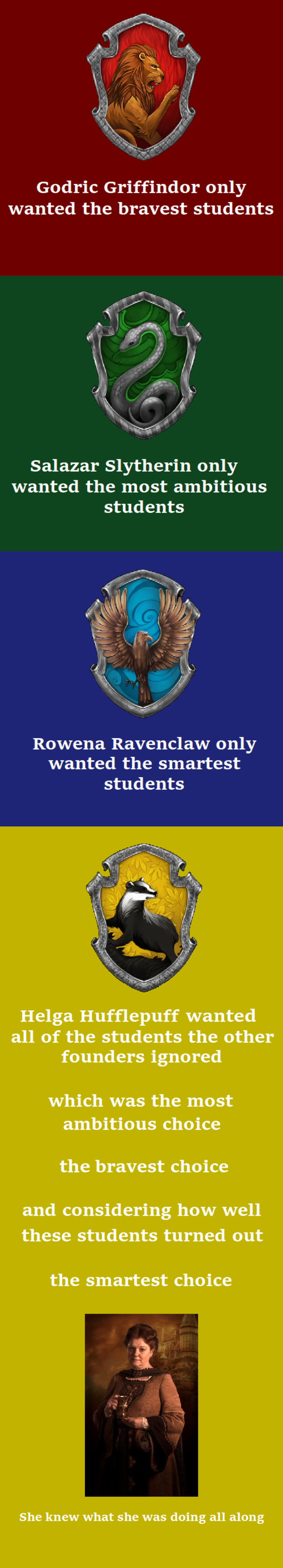 Why Hufflepuff Is A Pretty Good House Harry Potter Know Your Meme