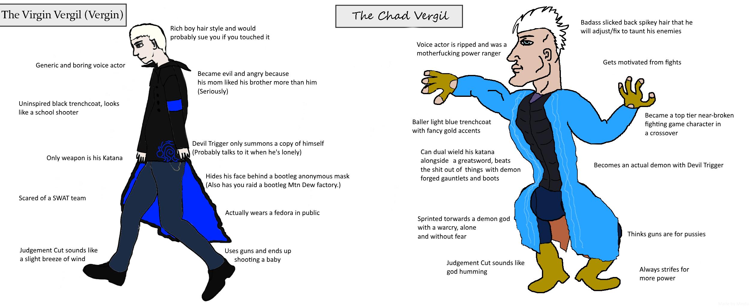 Virgin Vergil Vs Chad Vergil Virgin Vs Chad Know Your Meme