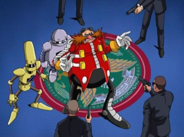 Eggman And His Robot Assistants Get Surrounded By Secret Service Agents Sonic The Hedgehog Know Your Meme
