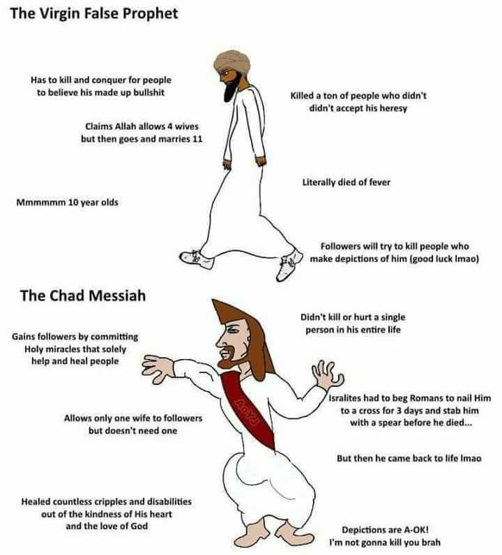 "Virgin ""Prophet"" vs Chad Messiah   Virgin vs. Chad   Know ..."