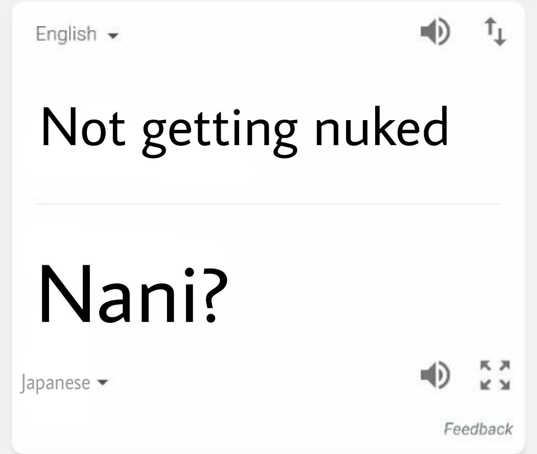 Google Translate Edits Nani