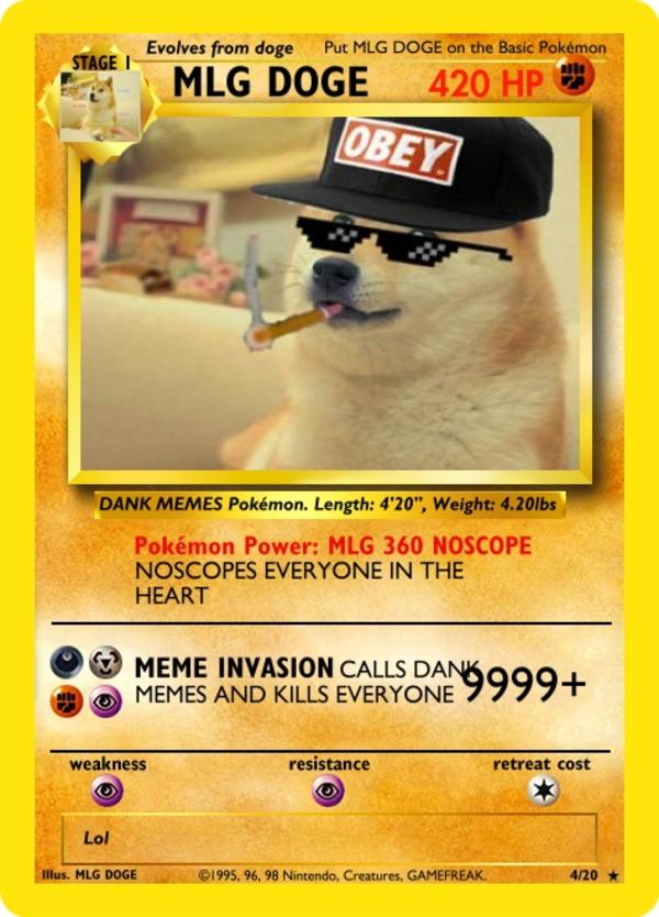 Mlg Doge Don T Click The Photo Fake Ccg Cards Know Your Meme