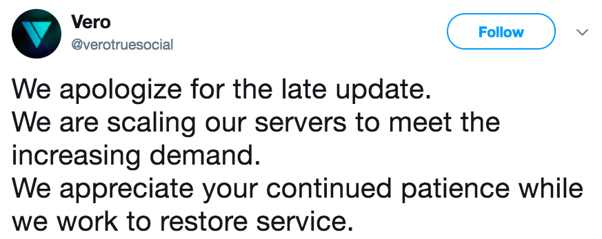 We apologize for the late update  We are scaling our servers