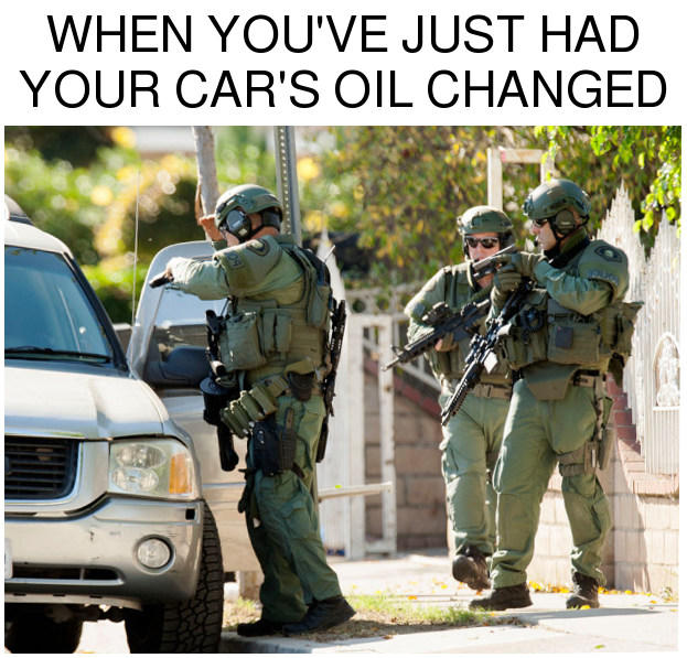 When You Ve Just Changed The Oil In Your Suv America Invading