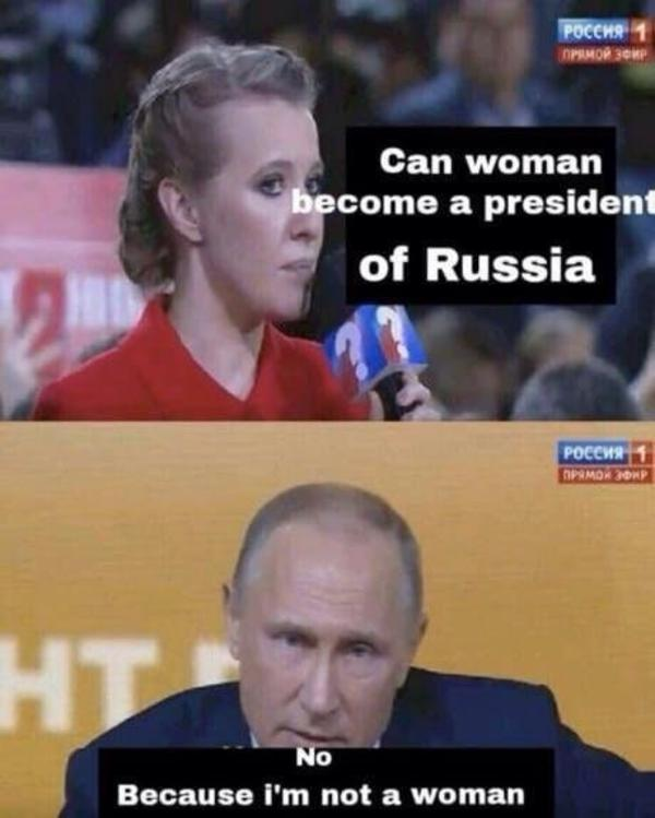 Can A Woman Become President Of Russia Vladimir Putin Fixed