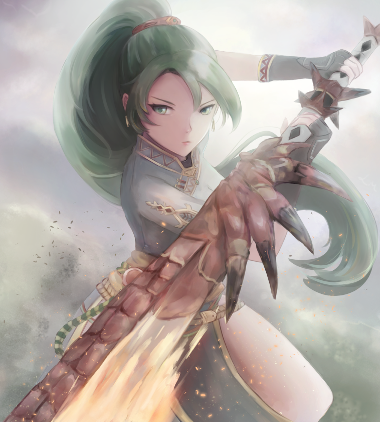 Lyn Wearing The Rathalos Long Sword Fire Emblem Know Your Meme