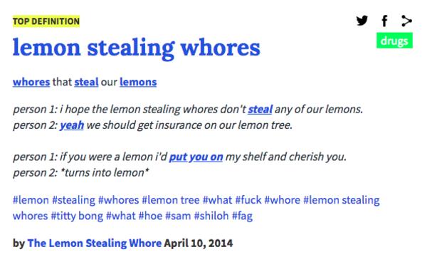 Lemon Urban Dictionary