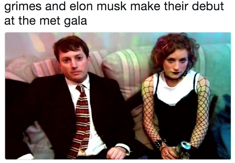 grimes and elon musk make their debut at the met gala | Elon