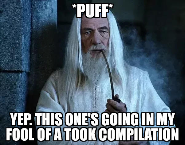 Image result for gandalf jokes religion