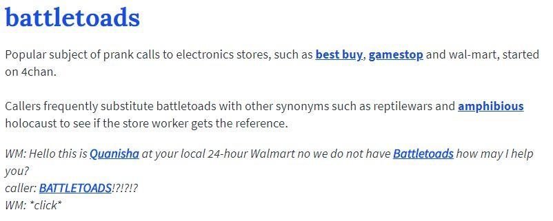 Urban Dictionary Definition | Battletoads Pre-order | Know Your Meme