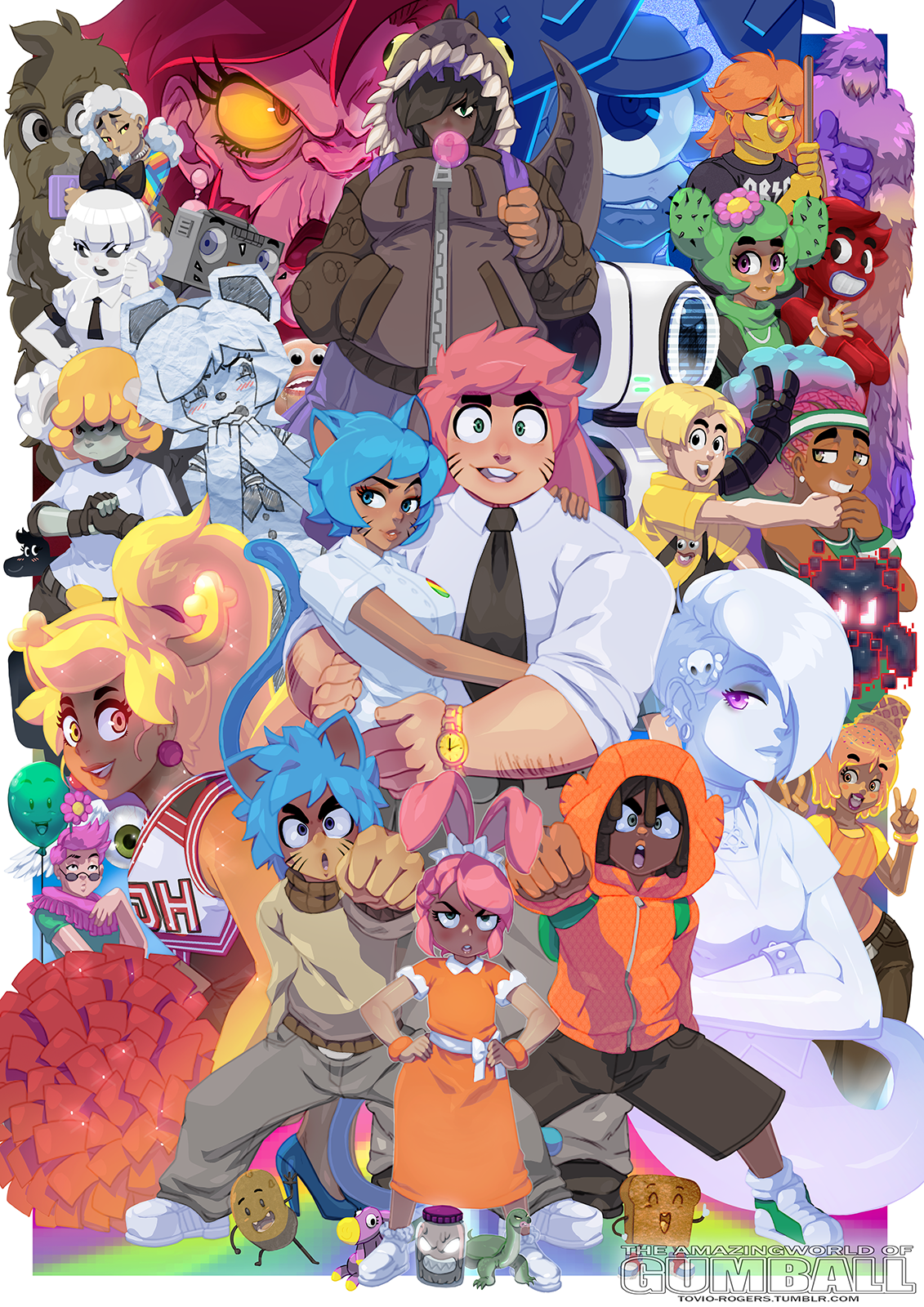 The Humanized World Of Gumball By Tovio Rogers The Amazing World Of Gumball Know Your Meme