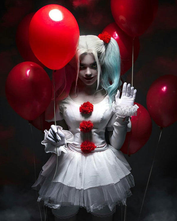 girl version pennywise the clown know your meme