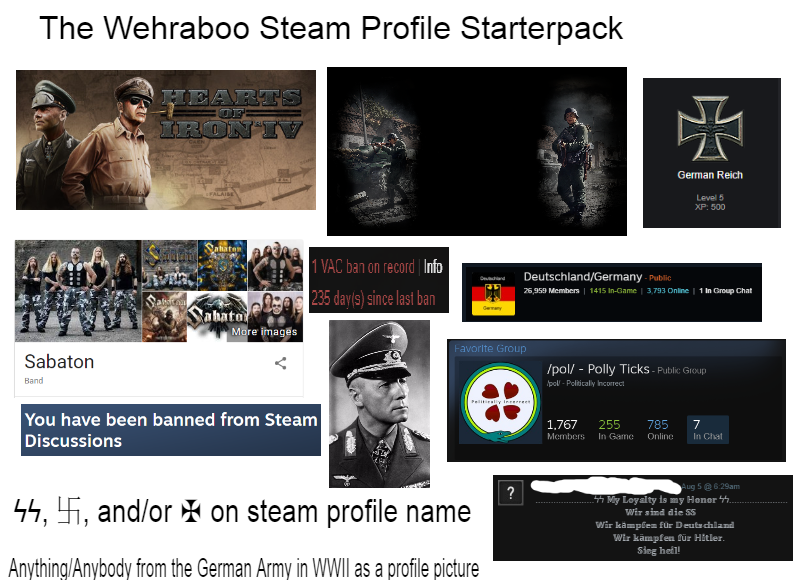 The Wehraboo Steam Profile Starter Pack | Wehraboo | Know