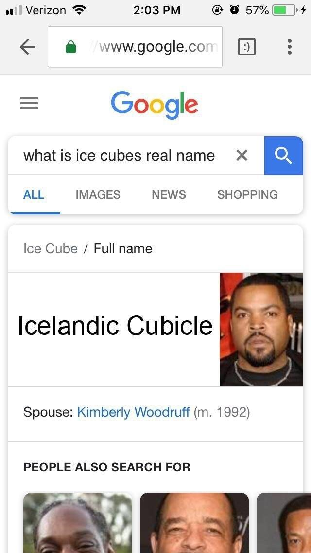 Ice Cube Real Name Google Searches Know Your Meme