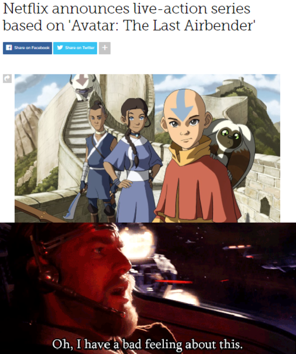 Oh I Have A Bad Feeling About This Avatar The Last Airbender The Legend Of Korra Know Your Meme