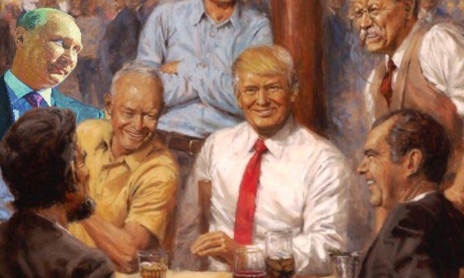 Putin Trumps Republican Presidents Painting Know Your Meme