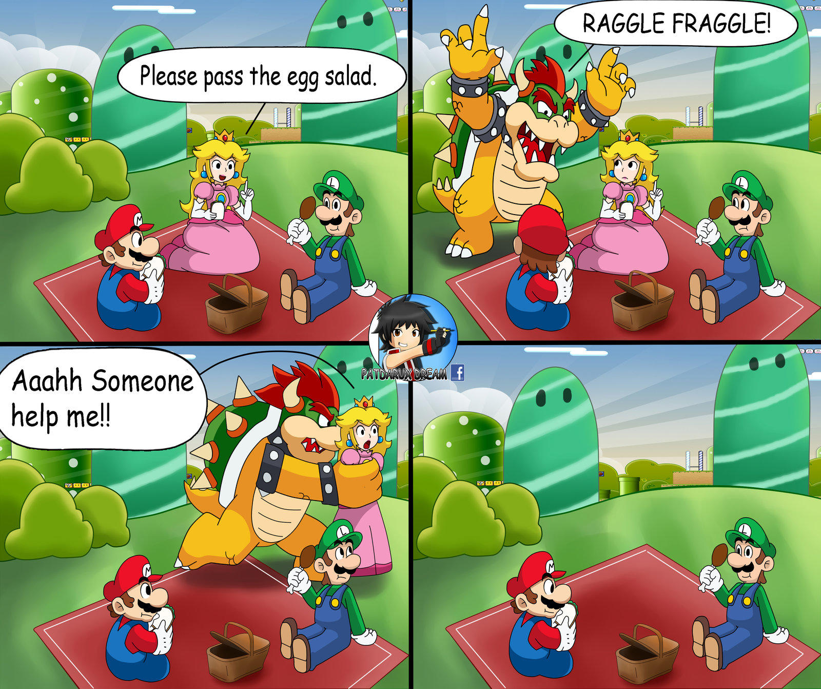 A Normal Day In The Mushroom Kingdom Super Mario Know Your Meme