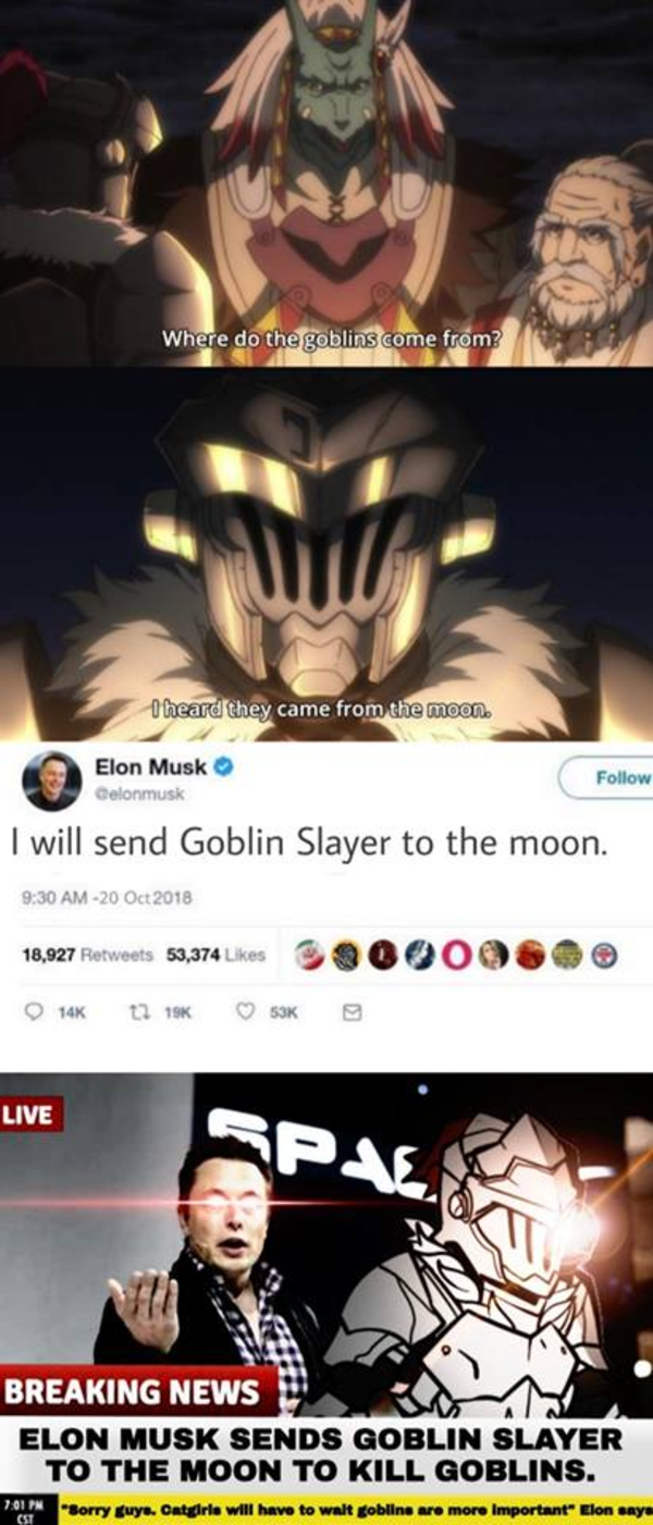 The Crossover We Need Goblin Slayer Know Your Meme Images, Photos, Reviews