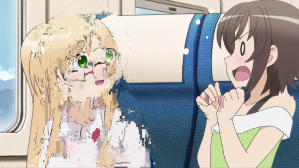 A Cursed Anime Image Datamoshing Know Your Meme
