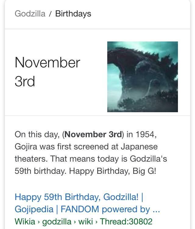 Happy 59th Godzilla Godzilla Know Your Meme