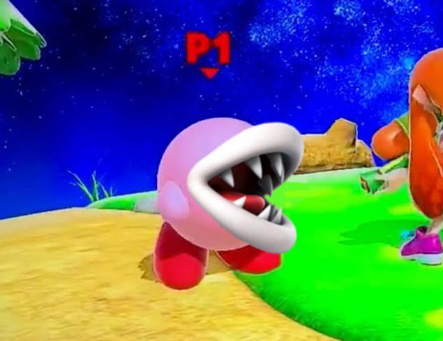 Kirby After Copying Piranha Plant Super Smash Brothers Ultimate