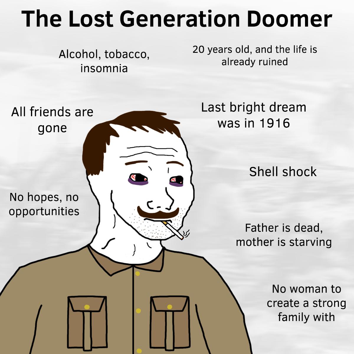 doomer guy and girl template
