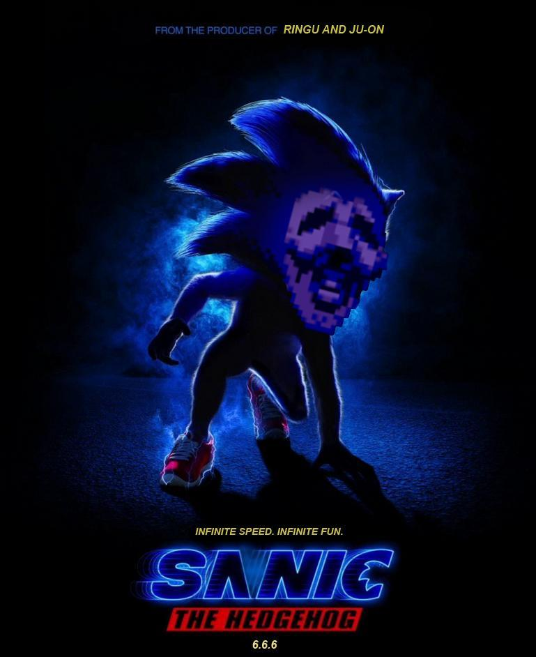 Sanic Sonic The Hedgehog Movie Poster Parodies Know Your Meme