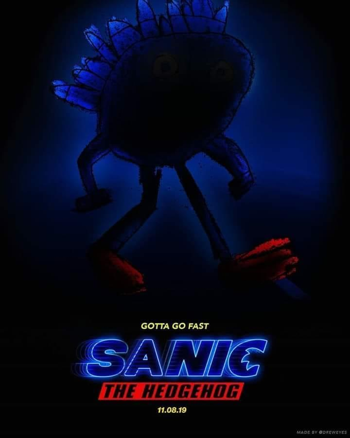 The Mandatory Sanic Edit Sonic The Hedgehog Movie Poster