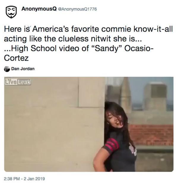 QAnon Tweet   Alexandria Ocasio-Cortez Breakfast Club Dance Video