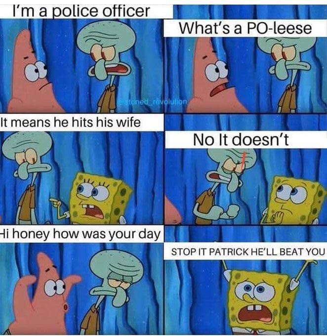 40% of cops beat their wives | SpongeBob SquarePants | Know