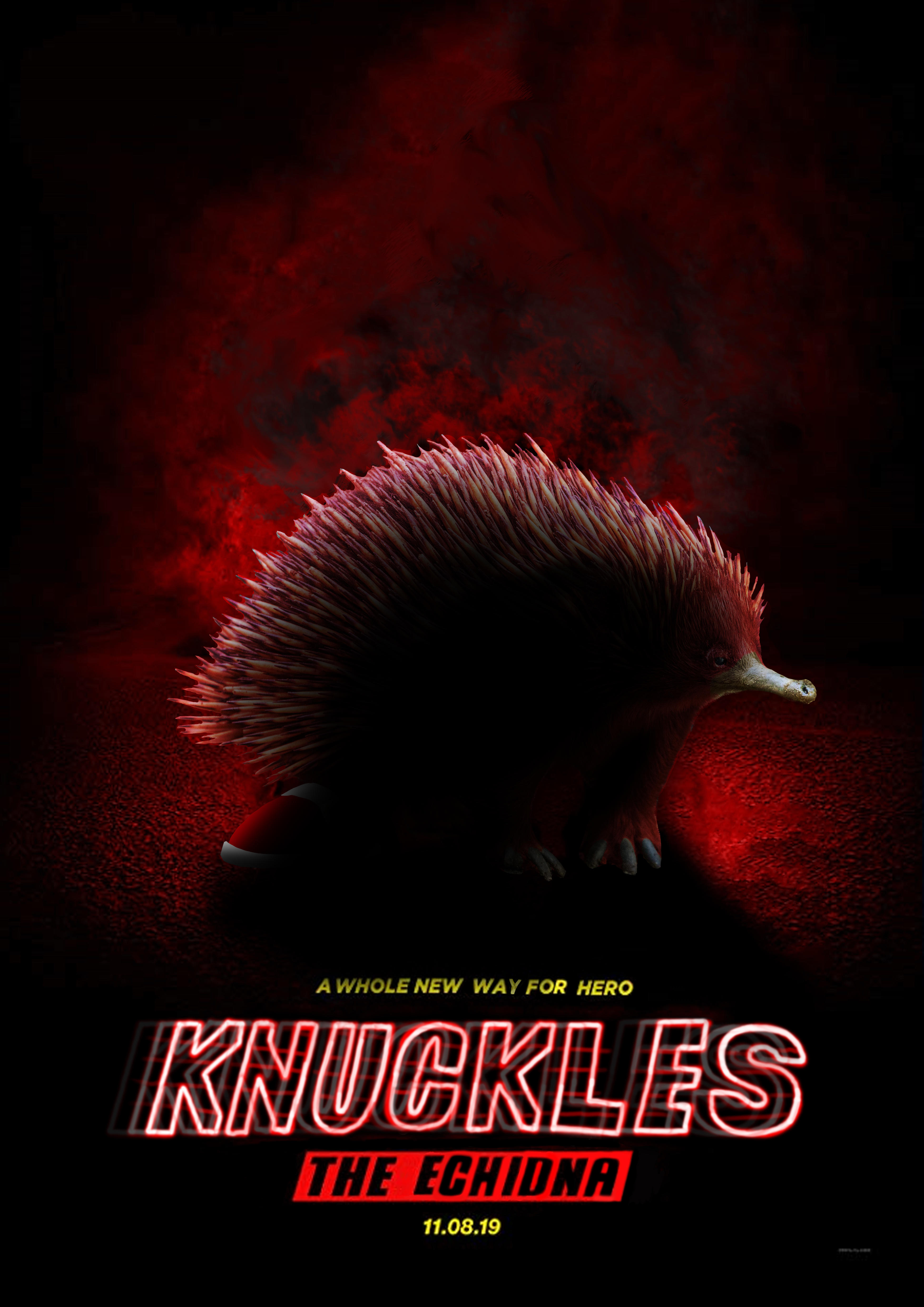 Knuckles The Echidna The Movie Sonic The Hedgehog Movie Poster Parodies Know Your Meme