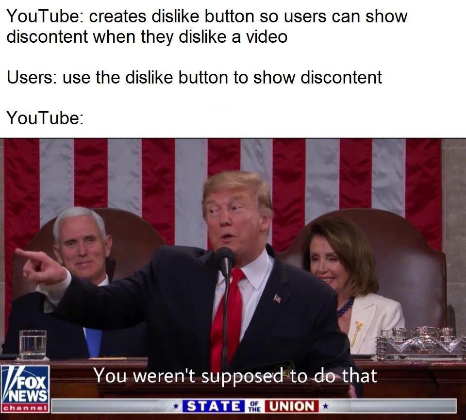 I don't geddit | YouTube Dislike Button Abuse | Know Your Meme