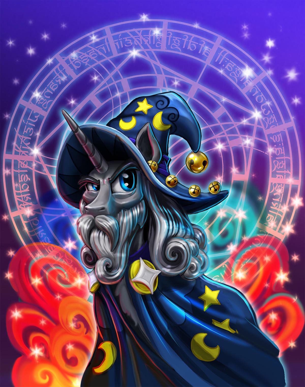 Magic Horse With Beard And Hat By Harwicks Art My Little Pony Friendship Is Magic Know Your Meme