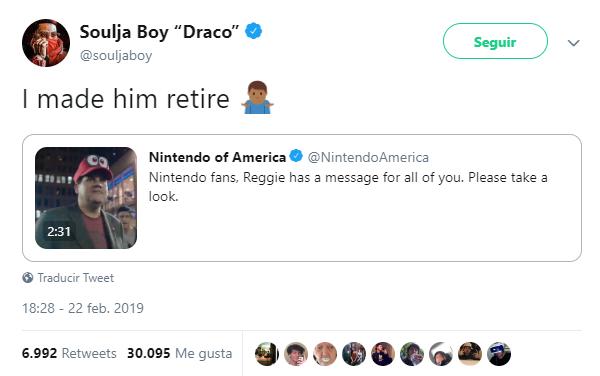 Soulja Boy is the actual responsible | Reggie Fils-Aime