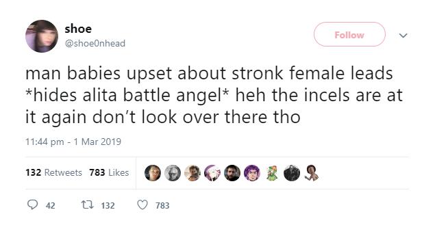 Shoe0nhead Alita Tweet   Captain Marvel   Know Your Meme
