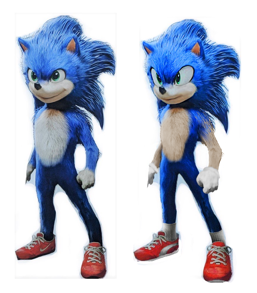 Comparing The Official Redesign And My Own Take On It Sonic The Hedgehog 2020 Film Know Your Meme