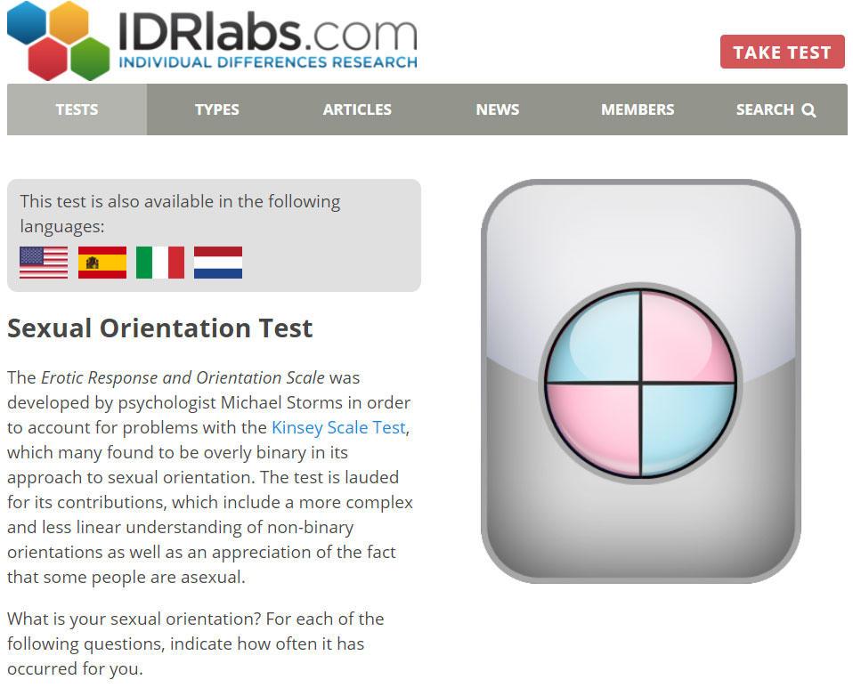 Sex orientation test
