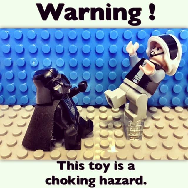 Warning, Darth Vader is a choking hazard.