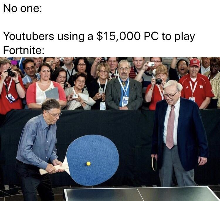 youtubers using a 15,000 pc to play fortnite   Bill Gates' Giant