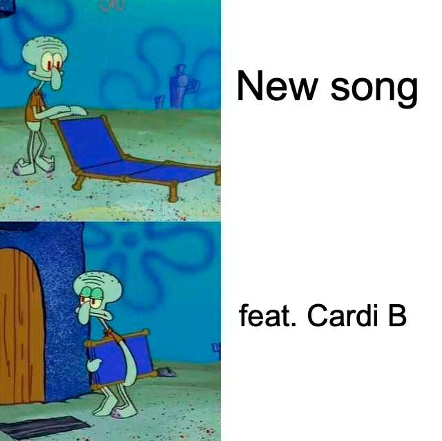 Cardi B Squidward S Lounge Chair Know Your Meme