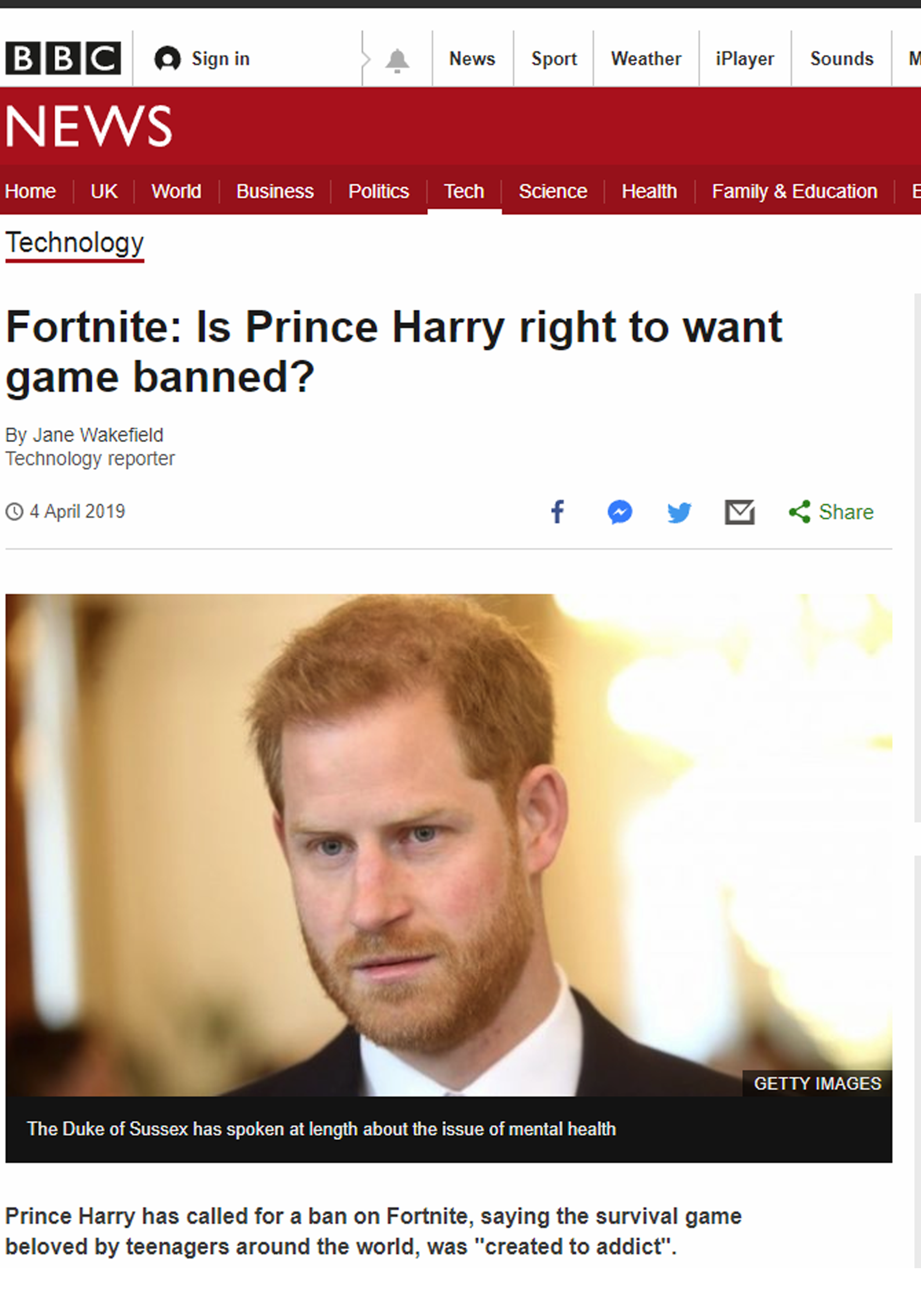 Fortnite: Is Prince Harry right to want game banned