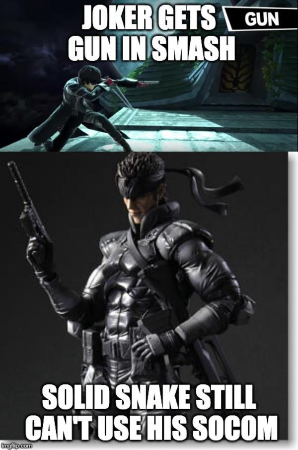 Is Snake A Joke To You Joker Super Smash Brothers Ultimate