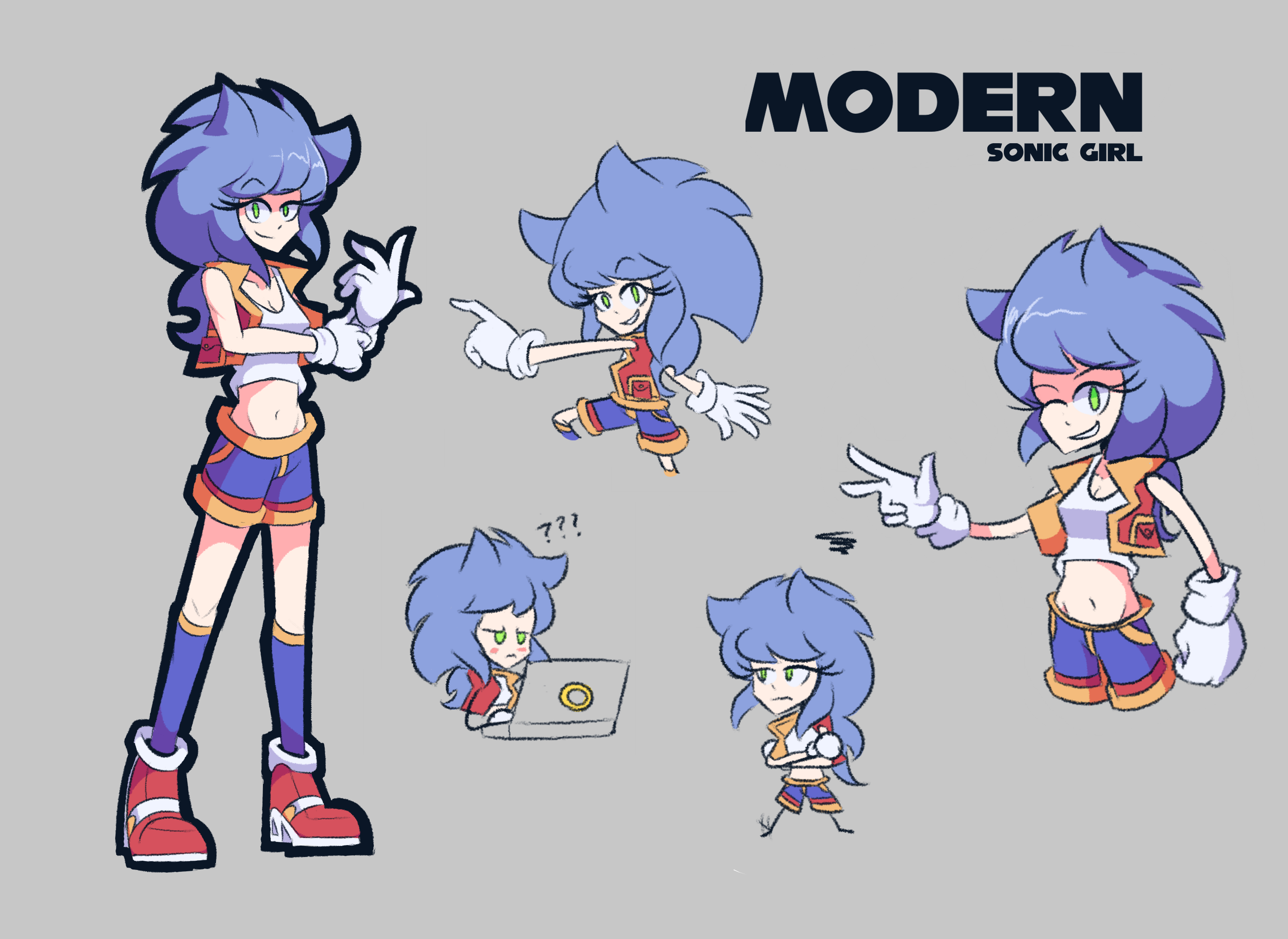 Modern Sonic Girl Sonic The Hedgehog Know Your Meme