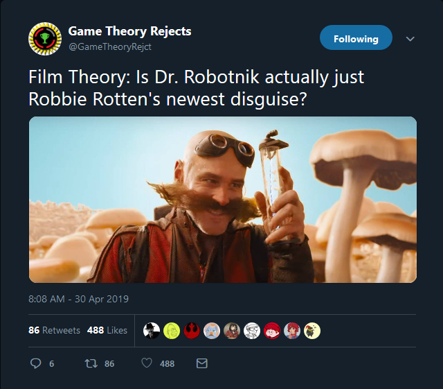 Film Theory Is Dr Robotnik Actually Just Robbie Rotten S Newest Disguise Sonic The Hedgehog 2020 Film Know Your Meme
