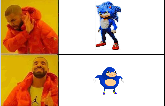Drakeposting Sonic The Hedgehog 2020 Film Know Your Meme